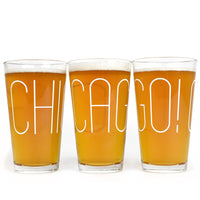 Chicago! Big Type Pint Glass