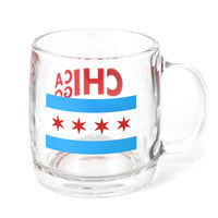 Chicago Flag Glass Mug