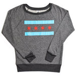Chicago Flag Womens Fit Sweatshirt
