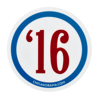 Chicago Cubs 2016 World Series Champions Sticker