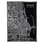 Faribault® Chicago Street Map Wool Blend Throw Blanket