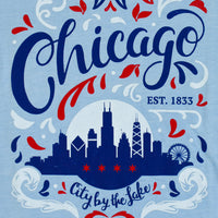 City by the Lake Chicago Womens Fit Tshirt