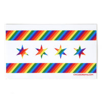 "Chicago Pride Flag 5"" x 3"" Sticker"