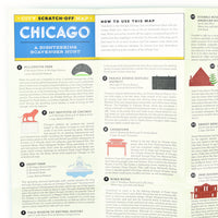 Chicago Scratch Off Scavenger Hunt Sightseeing Map