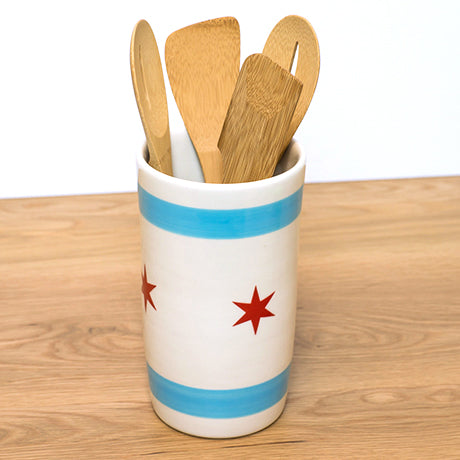 handmade-chicago-flag-utensil-holder
