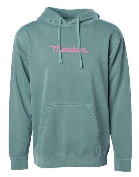 Over dye script logo fleece - Meridian skateboards