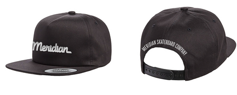 Script logo snap back - Meridian skateboards