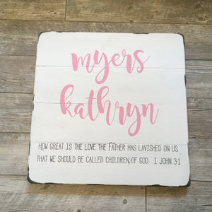 Personalized Child's Name Sign