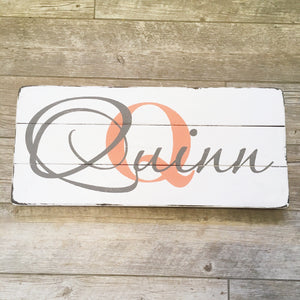 Three Plank Name Sign