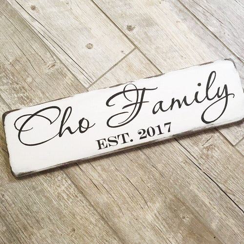 Single Plank Family Name Sign