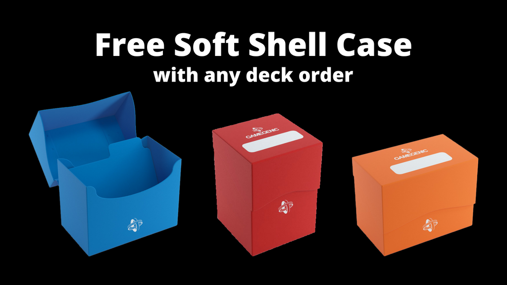 Free soft shell case with deck purchase