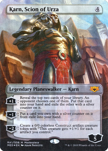 FOIL Karn Scion of Urza + Token - Ravnica Allegiance Mythic Edition - NM