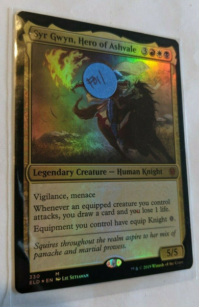 FOIL Syr Gwyn, Hero of Ashvale Magic Throne of Eldraine ELD MTG NM FREE SHIPPING