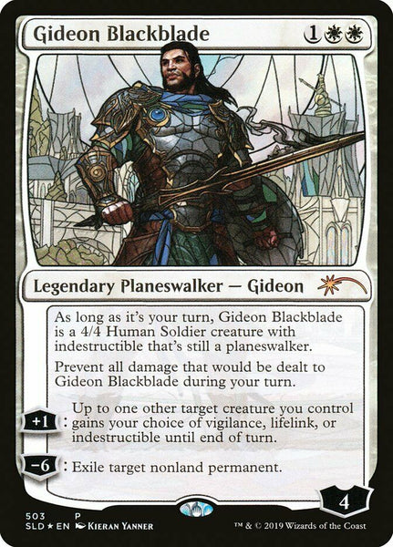 Stained Glass Foil - Gideon Blackblade - Secret Lair Drop