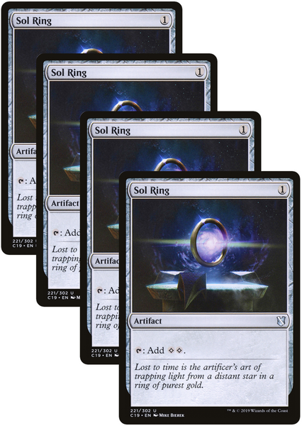 4X Sol Ring Playset | C19 | Commander 2019
