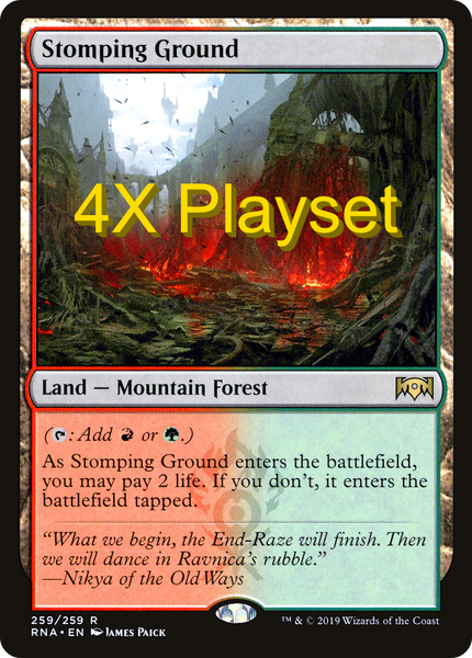 4X Stomping Ground Playset - RNA Ravnica Allegiance NM
