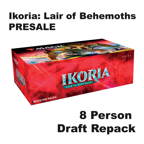 PRESALE 8 Person - Ikoria Lair of Behemoths - Standard Draft 24 Booster Box Repack with Free Box IKO
