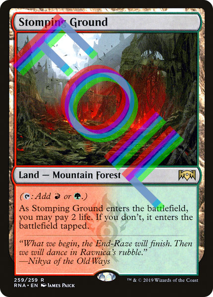 FOIL Stomping Ground - Ravnica Allegiance RNA - NM