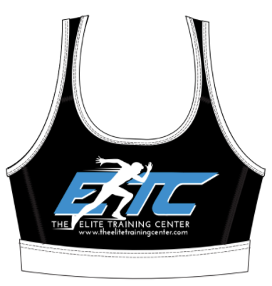 The Elite Training Center Racerback Sports Bra