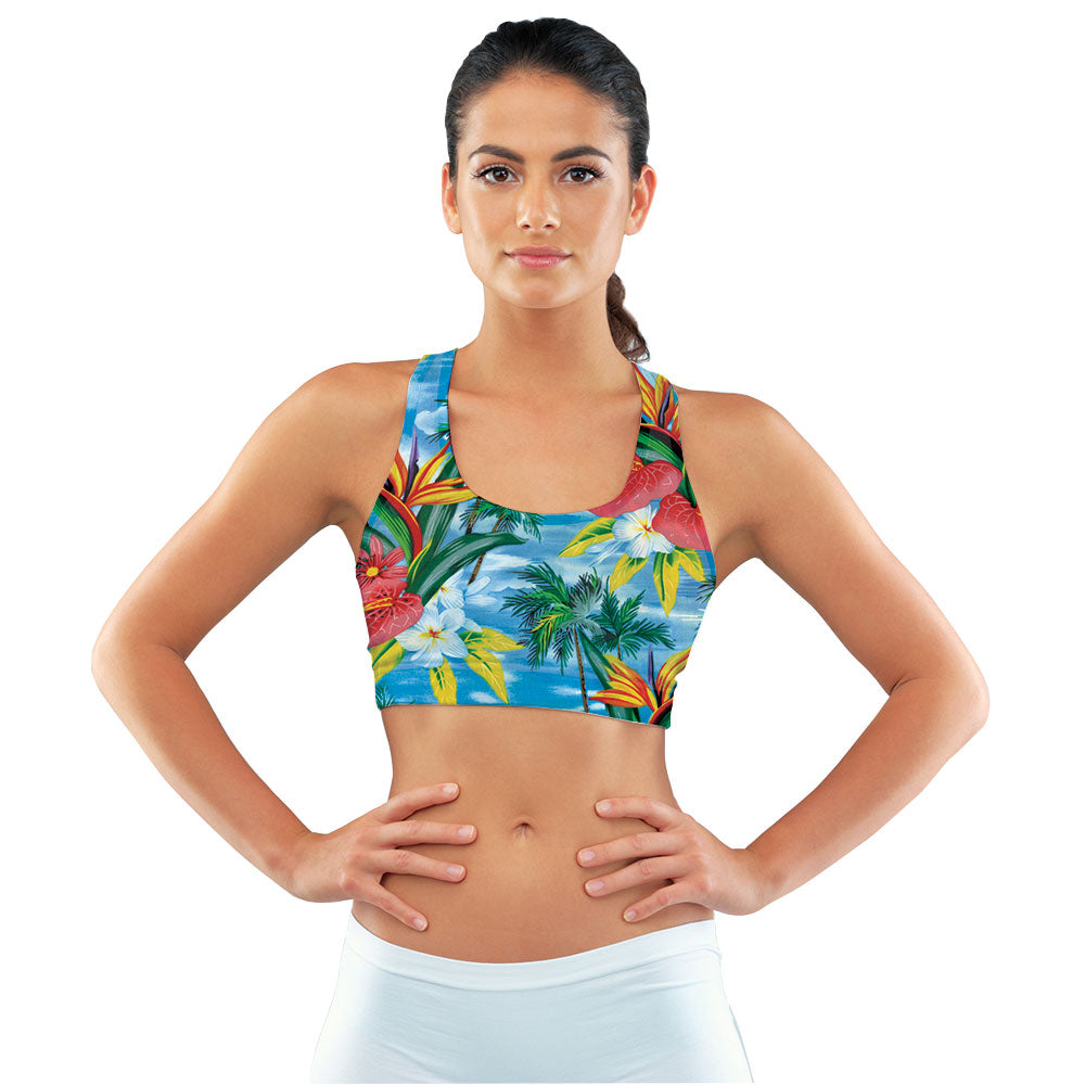 Blue Breeze Sports Bra made with our sustainable Ultra Soft Eco-Fabric from recycled plastic. Engineered for the active lifestyle with a smooth cool feel.