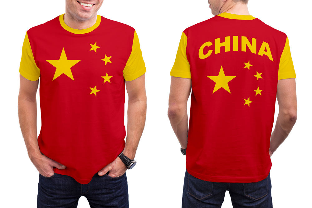 China Men's T-Shirt. Show your Olympic Pride in the Nostalgic Prints Nations Collection.  Styled to Please Supima Cotton Fabric Pre-Shrunk Fabric Machine Wash and Dry