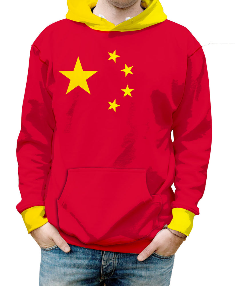 China Hooded Sweatshirt. Show your Olympic Pride in the Nostalgic Prints Nations Collection.  Warm & Soft 100% Premium Microfiber Polyester HD All-Over Graphic Print Pre-Shrunk Fabric