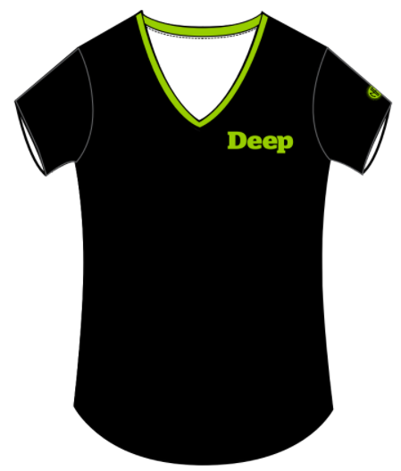 Deep Physio Womens V-Neck T-Shirt