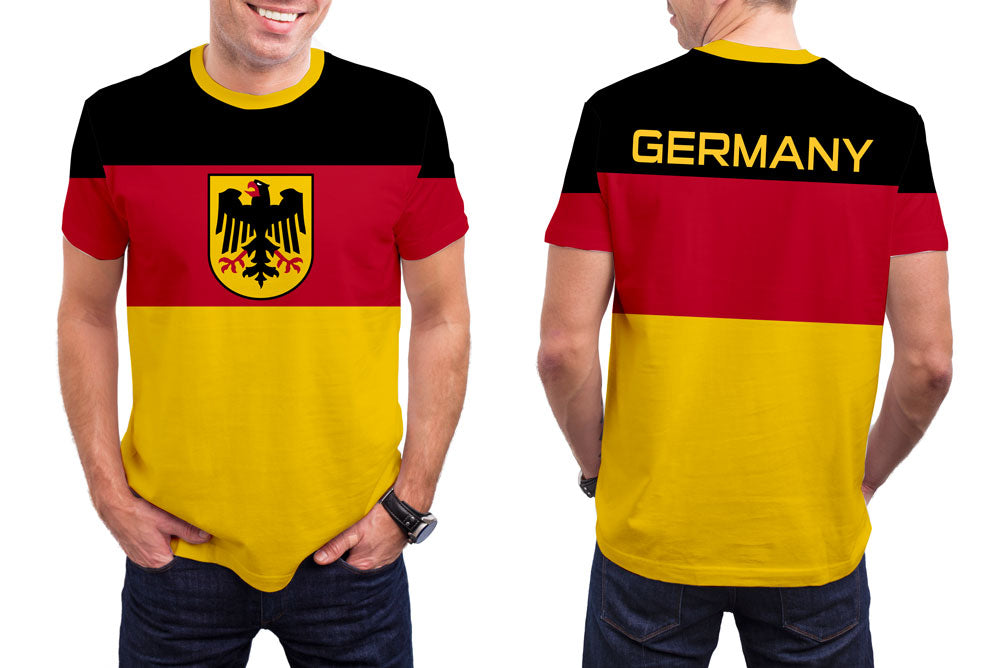 Germany Men's T-Shirt. Show your Olympic Pride in the Nostalgic Prints Nations Collection.  Styled to Please Supima Cotton Fabric Pre-Shrunk Fabric