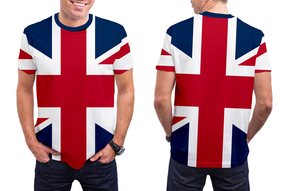 Great Britain Men's T-Shirt. Show your Olympic Pride in the Nostalgic Prints Nations Collection.  Styled to Please Supima Cotton Fabric Pre-Shrunk Fabric