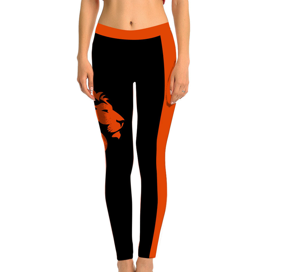 Netherlands Full Length Leggings. Show your Olympic Pride in the Nostalgic Prints Nations Collection. Made with fabric milled from recycled plastic bottles.  Super Soft Ultra Light Eco-Fabric Sustainable Activewear Ultra flattering wide waistband Durable flatlock stitching