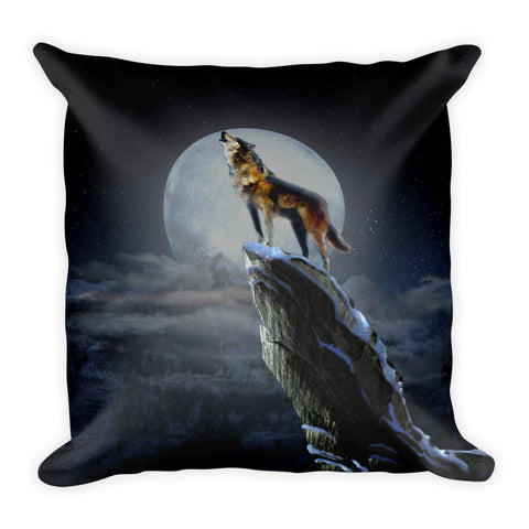 Scottish Viking's Twin peaks Wolf/Elk 2-sided Square Pillow