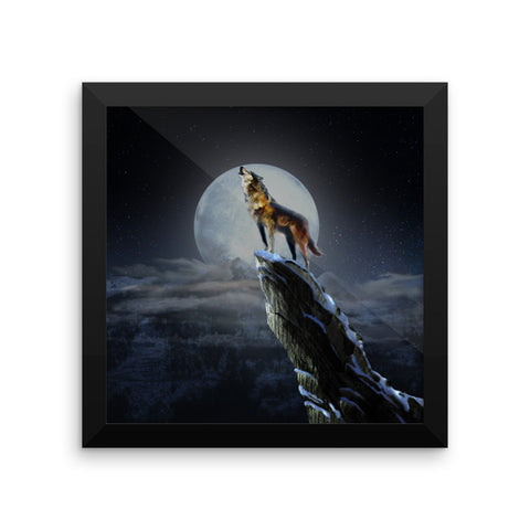 Scottish Viking's Twin peaks Howling  Wolf Framed photo paper poster