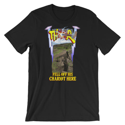 Scottish Viking's - Short-Sleeve Unisex T-Shirt - THOR FELL OFF HIS CHARIOT HERE