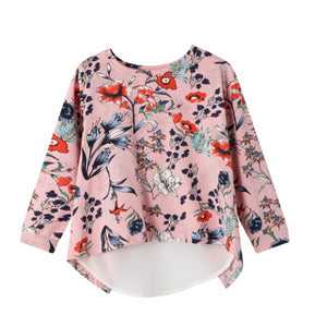 Cracked Soda : Grace Floral Chiffon Back Top