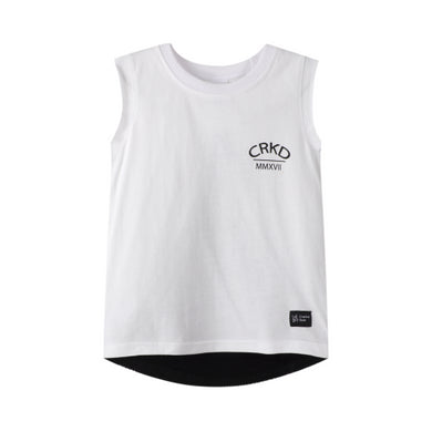 Cracked Soda - Tate Split Mesh back Tank White