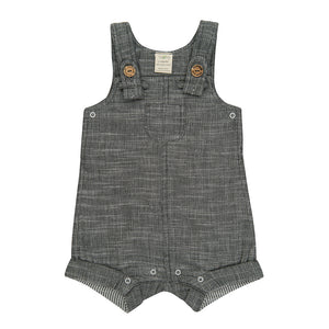 Tiny Twig Grey Chambray Overall