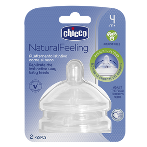 Chicco Natural Feeling Teat 4m+ Adjustable Flow