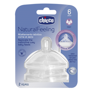 Chicco Natural Feeling Teat Fast Flow 6m+