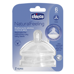 Chicco Natural Feeling Teat Food Flow 6m+