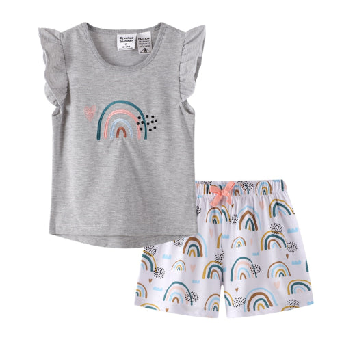 Cracked Soda - Baby Girls Rainbow Pajamas