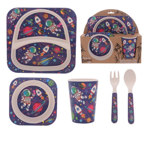 Spaceman Bamboo Dinner Set 5pc