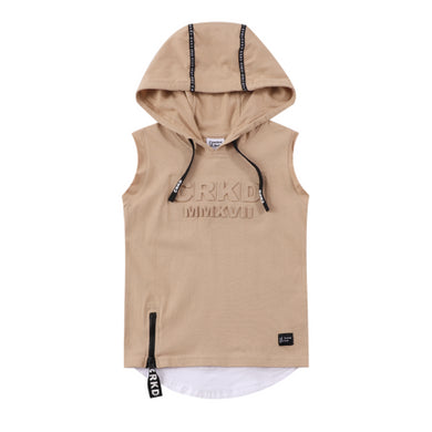 Cracked Soda - Westley CRKD Hoodie Tank Tan Baby