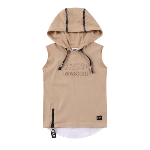Cracked Soda - Westley CRKD Hoodie Tank Tan