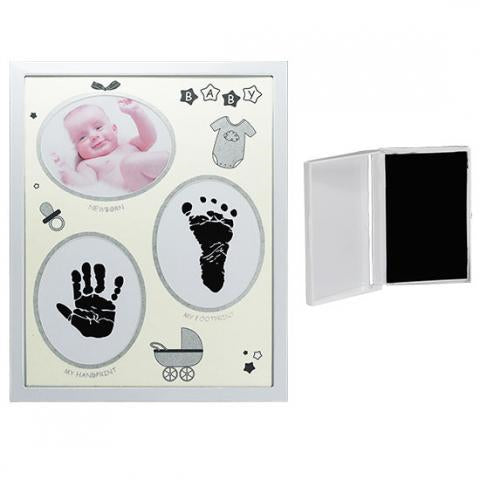 Baby Hand & Foot Print Collage Frame With Printing Ink Pad