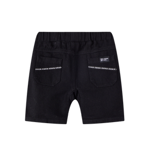 Cracked Soda - Jax Detailed Denim Shorts Black