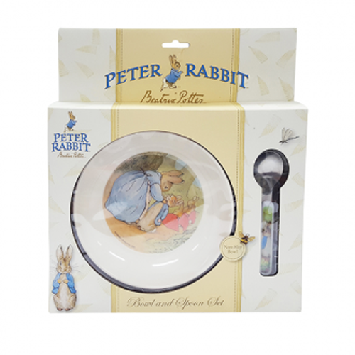 Peter Rabbit Melamine Bowl and Spoon Set