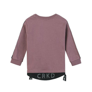 Cracked Soda : Bentley Detailed Long Sleeve Tee - Plum