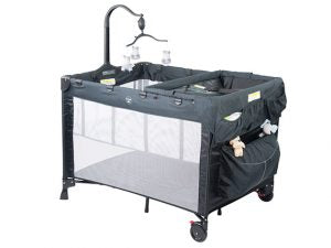 Steelcraft 4 in 1 Porta Cot Melange - Black/Grey