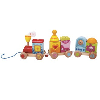 Wooden Block Pull Train