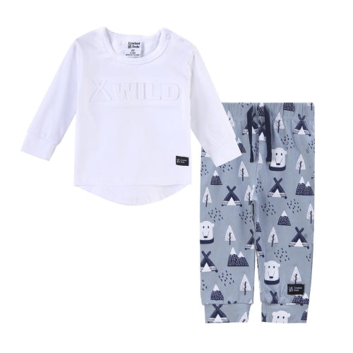 Cracked Soda : Sutton Wild Crew Set - White